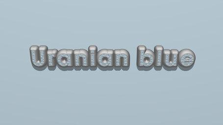 Uranian blue