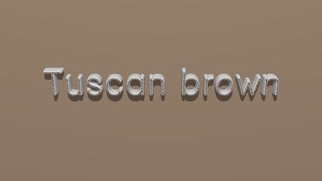 Tuscan brown