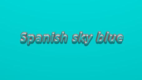 Spanish sky blue