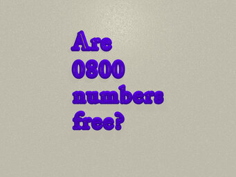 Are 0800 numbers free with Sky?