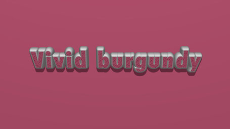 Vivid burgundy