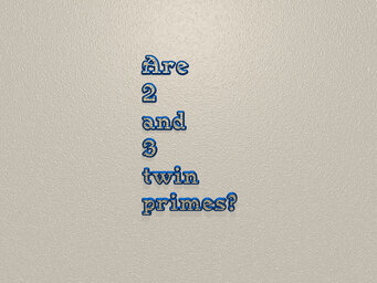 Are 2 and 3 twin primes?