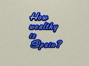 How wealthy is Spain?