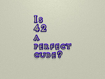 Is 42 a perfect cube?