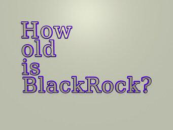 How old is BlackRock?