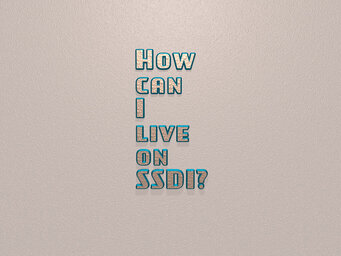 How can I live on SSDI?