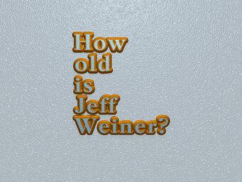 How old is Jeff Weiner?