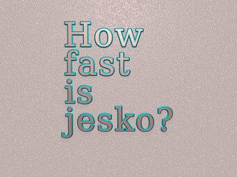 How fast is jesko?
