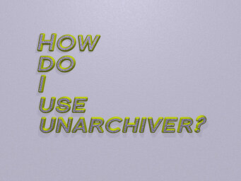 How do I use unarchiver?