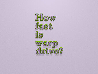 How fast is warp drive?