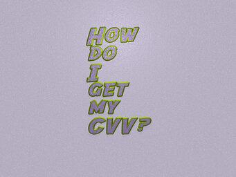 How do I get my CVV?
