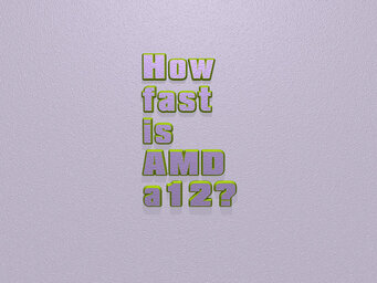 How fast is AMD a12?