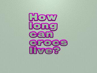 How long can crocs live?