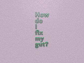 How do I fix my gut?