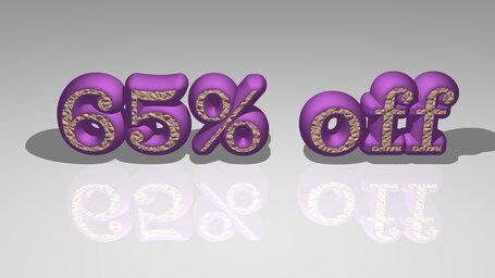 65% off