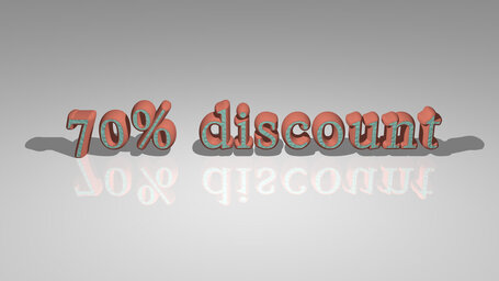 70% discount