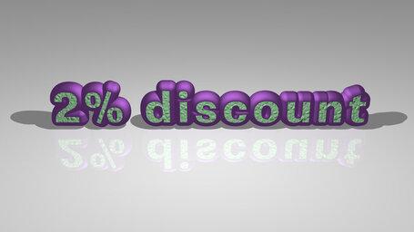 2% discount