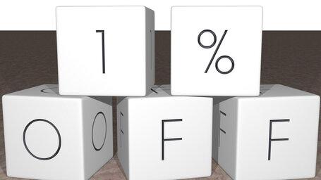 1% off