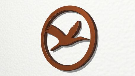 sign of flying bird