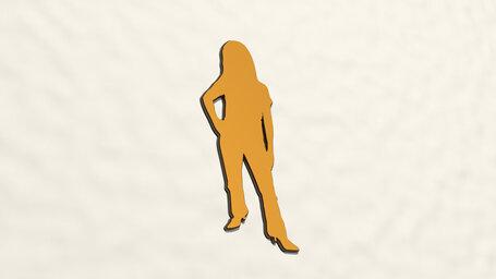 woman standing on high heels