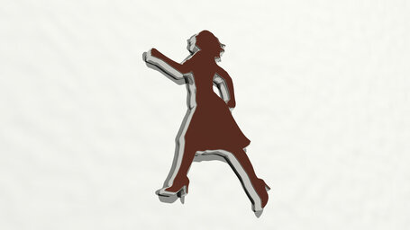happy woman running with high heel shoes