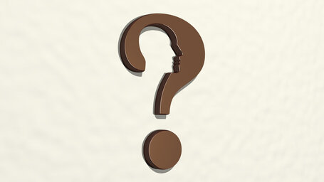 question mark with a thinking head
