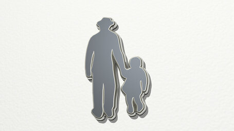 man walking with his child