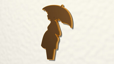 pregnant woman with umbrella