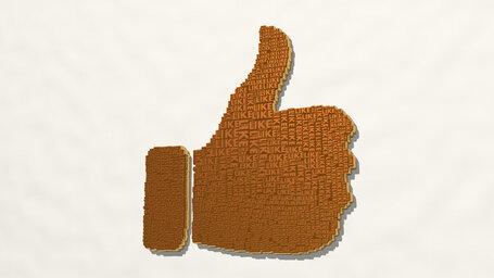 like word making a thumb up
