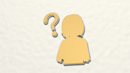 girl with question mark