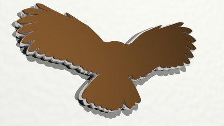 eagle flying wide