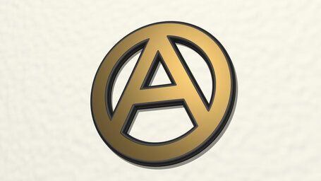 letter A in circle