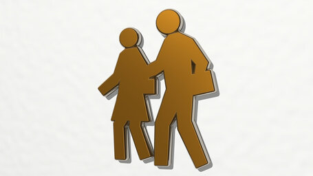 man and woman going to work