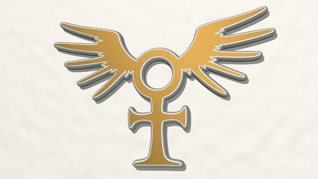 cross and wing symbol