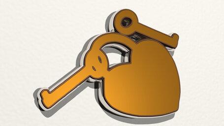 key to heart lock