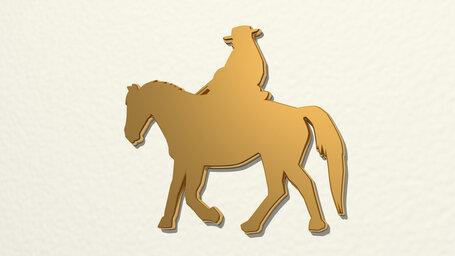 man ridding horse