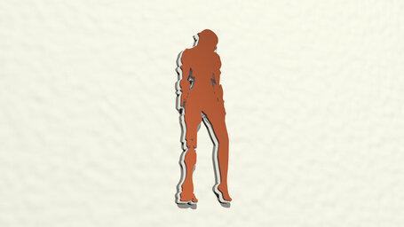 girl with artificial leg