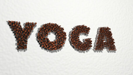 Yoga positions made word