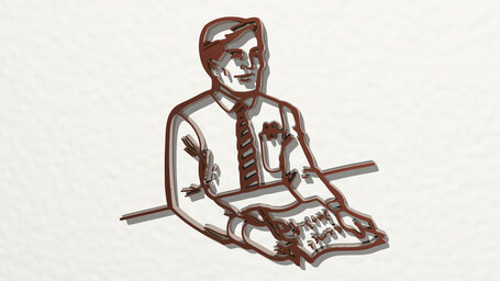 news anchor or interviewer