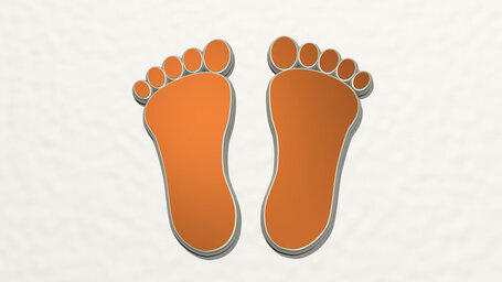 man footprint
