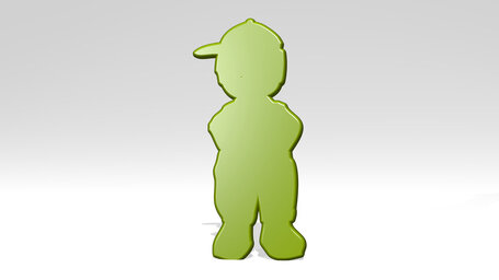 small boy standing