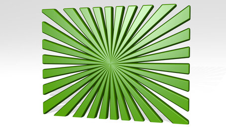 symmetric pattern of lines