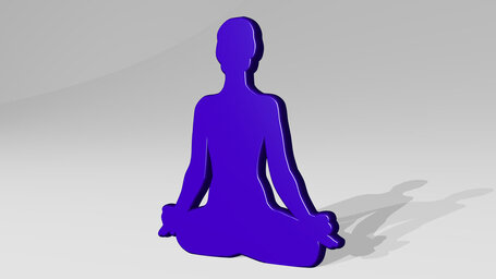 relaxing yoga posture