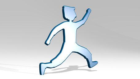 young man running