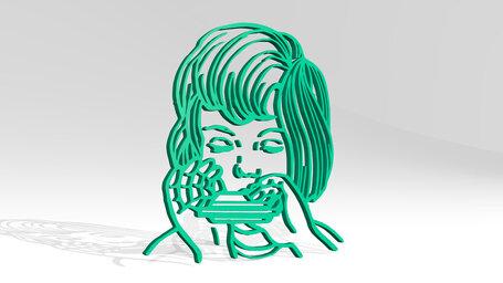 girl playing harmonica