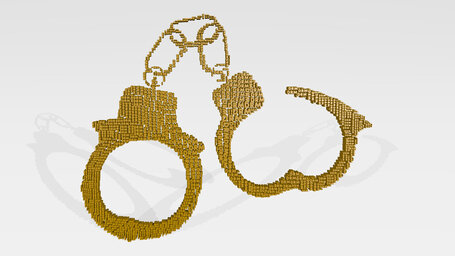 handcuff made of words