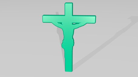 Christian cross with Jesus
