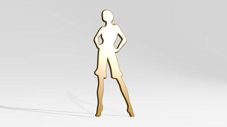 fancy woman with long legs