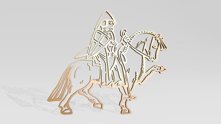 medieval soldier on horse