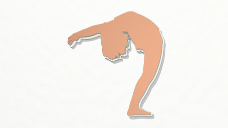 woman stretching her body